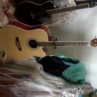 Gitar Akustik Jumbo Equalizer Merk Yamaha