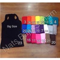 Baju senam big size, tank top polos big size, gym, fitness