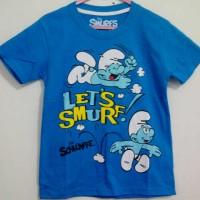 Kaos Anak Karakter Lets Smurf,1-6T