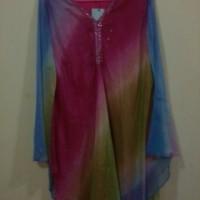 Dress Semi Gamis Kelelawar Bat Wing Kalong Kaftan Sifon Pelangi