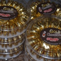 COKLAT DELFI - GOLD CHOCOLATE ISI 50 KEPING - ISI PARCEL