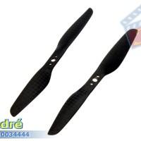 Propeller 2-Leaf 5030 5x3 Carbon Fiber - 3 Lubang (1 PSG)