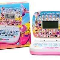 Laptop Mini 2 Bahasa Motif Hello Kitty,The Cars,Spongebob,Princess,Barbie,Angry Birds,dan Thomas + Mouse