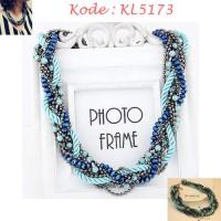 Kalung Fashion Biru - KL5173
