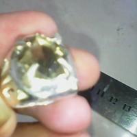 cincin batu kecubung teh natural jernih tembus ring perak