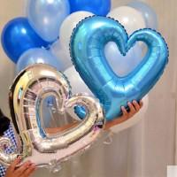 Jual Balon Foil Love Hati Tengah Lubang Murah