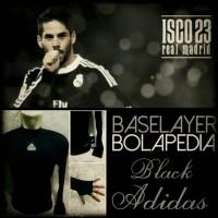 baselayer/manset futsal thumbhole hitam Adidas - jersey bola