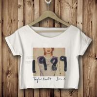 taylor swift 1989 kaos crop tees tshirt pendek bawah DTG