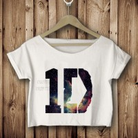 1D one direction galaxy nebula kaos crop tees tshirt pendek bawah DTG