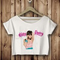 Katy Perry pose hot kaos crop tees tshirt pendek bawah DTG