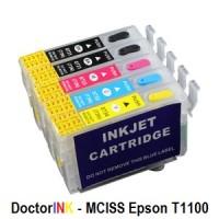 Cartridge MCISS Epson T1100/T1100PS/T1120/T1120PS - Tanpa Selang