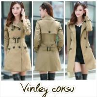 harga Long Coat Blazer Vinley Best Quality Tokopedia.com