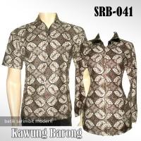 BATIK COUPLE MODERN Sarimbit Halus   Kawung Barong   SRB-041