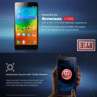 Lenovo A7000 the Lollipop 4G LTE 2GB RAM + True8Cores 64Bit Smartphone