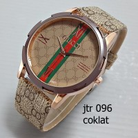 jam tangan gucci wanita / cewek / jtr 096 coklat