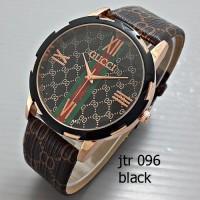 jam tangan gucci wanita / cewek / jtr 096 black
