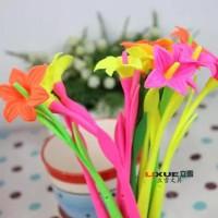 Pulpen Silikon Berbentuk Bunga Lily