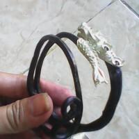 gelang akar laut bahar ring kepala ekor naga unik antik