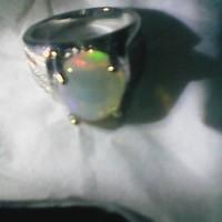 cincin batu opal kalimaya afrika tembus full warna tembus