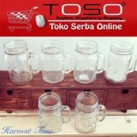 Mug Jar /Gelas Toples / Harvest Time Drinking Mason Jar Tanpa Tutup