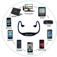 Headset Bluetooth Stereo Untuk HP China Oppo Joy/HTC/Advan/EverCross