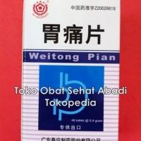 Wei Tong Pian (Obat maag, asam lambung berlebihan, gangguan pencernaan, muntah, mual dan kembung)