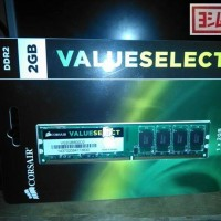 Corsair Value Select 2GB DDR2 Memory RAM PC 800 MHz (VS2GB800D2)