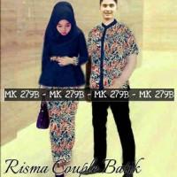 couple risma batik biru