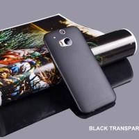 Jual 0.3mm Ultra Thin Matte Transparent Back Case Cover HTC One M8 Murah