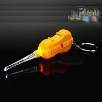 Korek Kuping Lampu / LED & Gantungan Kunci (Model Biola)