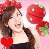 Magic Strawberry Sponge Hair Curler Ball: Rambut Ikal Tanpa Catok