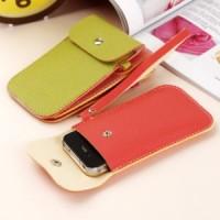 Dompet iPhone dari Kulit Imitasi (Warna Ceria)