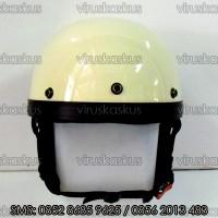 Helm Vespa/cafe racer/Retro Classic Cream Anulator Leberhem