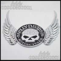 Emblem / Sticker Harley Davidson Willie G Skull With Wings