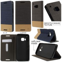 Htc One M9 - Canvas Pocket Leather Case
