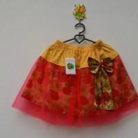 Rok / skirt anak tutu merah polka kuning