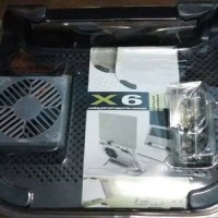 cooling pad support untuk laptop / notebook X6 metal