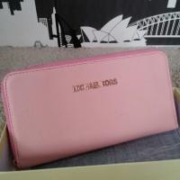 Dompet Michael Kors MK Wallet Zipper neo Pink Pastel