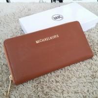 Dompet Michael Kors MK Wallet Zipper neo Brown