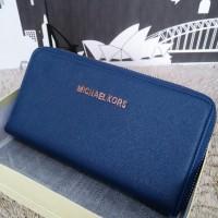 Dompet Michael Kors MK Wallet Zipper neo Sapphire Blue