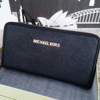 Dompet Michael Kors MK Wallet Zipper neo Black