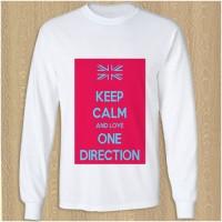 keep calm and love one direction kaos t shirt lengan panjang DTG A3