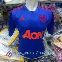 Manchester united training jersey biru 2015 2016