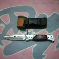 pisau lipat mini ak 47 ak47 pendek senjata tajam army berburu camping