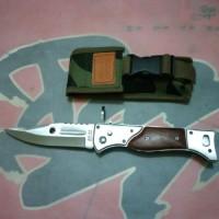 pisau lipat mini ak 47 ak47 sedang senjata tajam army beburu camping