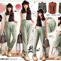 Wide waist jogger pants Twistcone koshibo Fit to L
