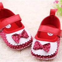 prewalker merah pita sepatu baby bayi toddler balita