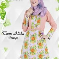 Tunic Alisha,atasan muslim unik,baju muslim santai,baju kerja muslim