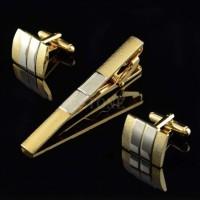 set cufflink tie bar / manset penjepit jepit dasi / tie clips import