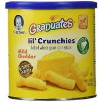 gerber graduates lilcrunchies mild cheedar keju